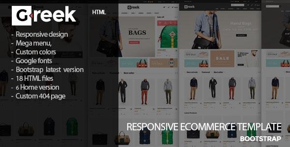 Greek - Fashion Store HTML Template - Fashion Retail