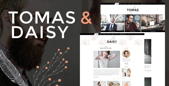Tomas and Daisy - Personal Blog Theme