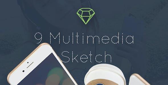 Multimedia App - Sketch Mobile UI Kit