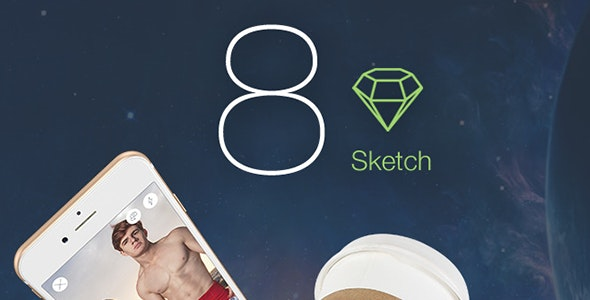 8 Color - Sketch Mobile UI Kit - Sketch UI Templates
