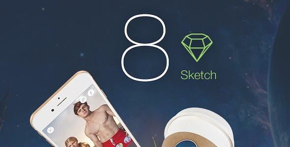 8 Color - Sketch Mobile UI Kit
