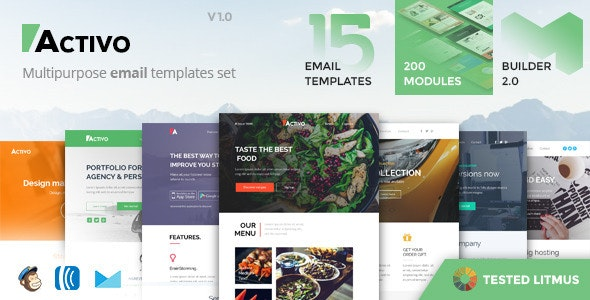Activo - Email Templates Set with Online Builder - Email Templates Marketing