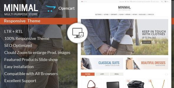 Minimal Multi Purpose - Responsive Opencart Theme - OpenCart eCommerce