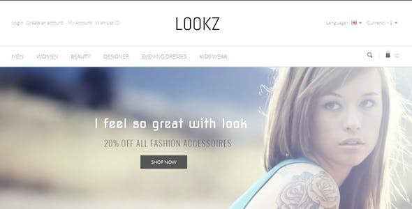 Lookz - Opencart Parallax Template