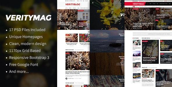 VerityMag - News & Magazine PSD Template - Creative Photoshop