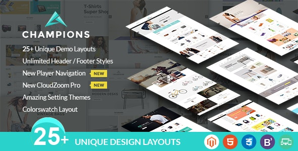 Champions - Creative Multi-Purpose Magento Themes - Shopping Magento