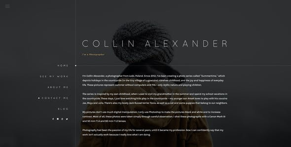 Cephenus - Creative Photography Template
