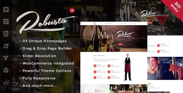 Robusta - Restaurant & Cafe WordPress Theme - Restaurants & Cafes Entertainment