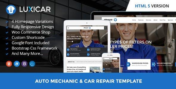 Luxicar Automotive & Business HTML5 template