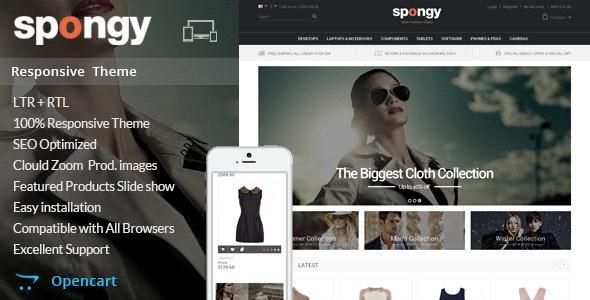 Spongy - Opencart Responsive Theme - Fashion OpenCart