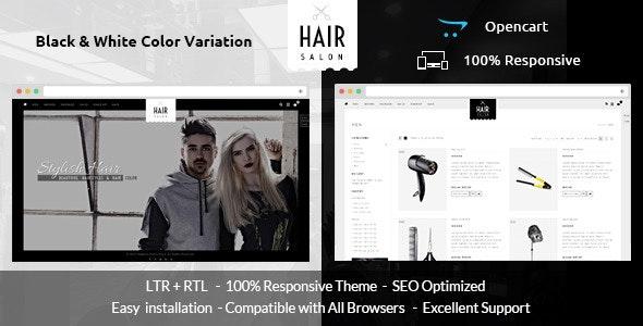 Hair Salon - Opencart Responsive Theme - Fashion OpenCart