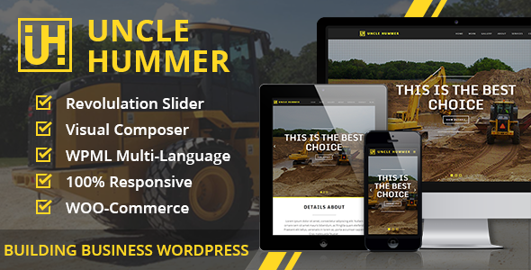 Uncle Hummer - Responsive WordPress Building Theme - Business Corporate