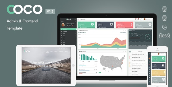 Coco - Responsive Bootstrap Admin and Frontend Template - Admin Templates Site Templates