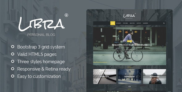 Libra - Personal Blog HTML Template - Personal Site Templates