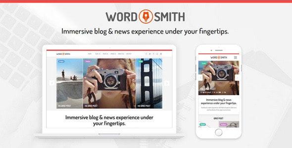 WORDSMITH - Modern Blogging & News Template - Creative Muse Templates