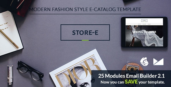 Store-e Email Template + Emailbuilder 2.1 - Catalogs Email Templates