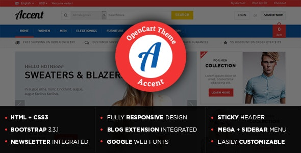 Accent - Gift Store Responsive OpenCart Theme - Shopping OpenCart