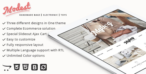 Modest - Multipurpose and Responsive Opencart Theme - Shopping OpenCart