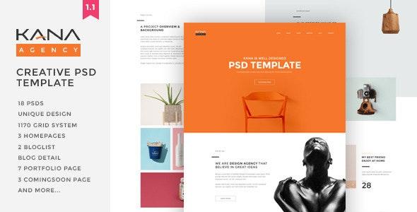 Kana - Creative Agency Psd Template - Portfolio Creative