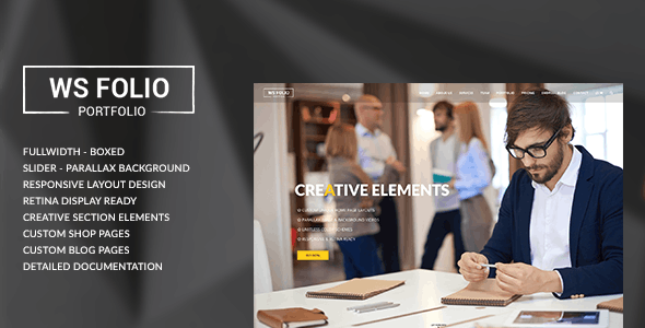 WS Folio - Responsive Portfolio HTML5 Template - Portfolio Creative