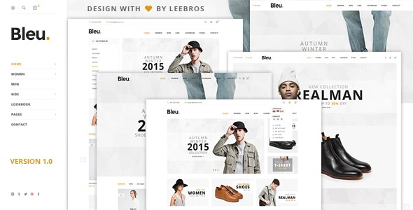 Bleu - Ecommerce PSD Template - Retail Photoshop