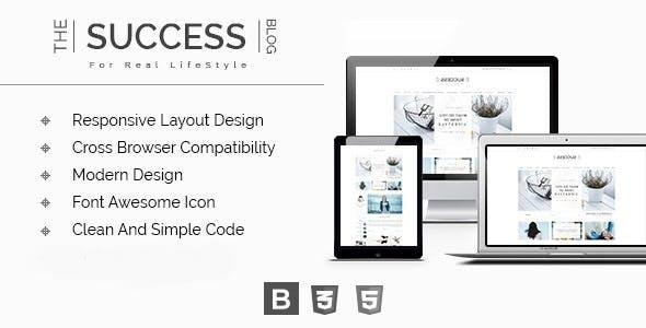 The Success - Responsive Modern HTML Blog Template