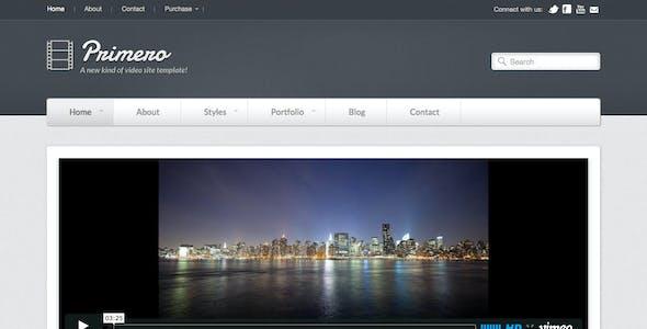 Primero - Video Site Template