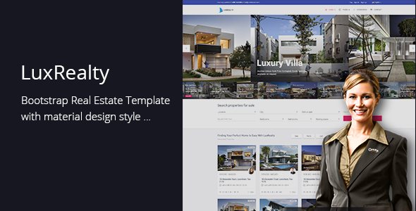Lux Realty - Real Estate,Property Material Design - Site Templates