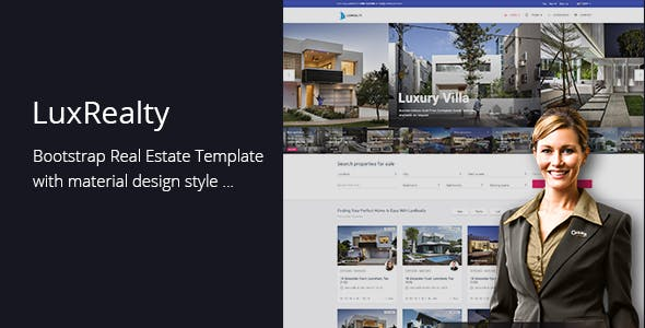 Lux Realty - Real Estate,Property Material Design by codenpixel