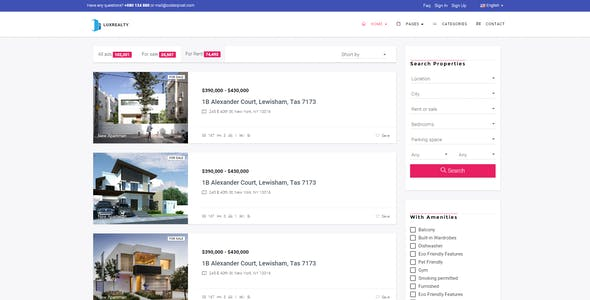 Lux Realty - Real Estate,Property Material Design