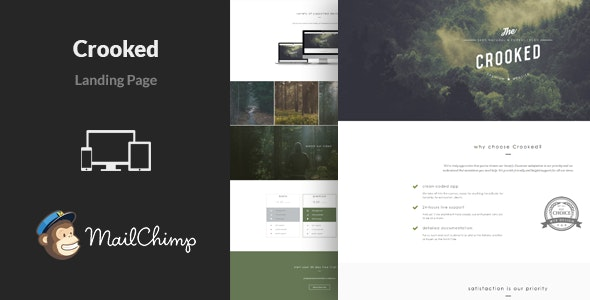 Crooked - Multipurpose Landing Page Template - Landing Pages Marketing