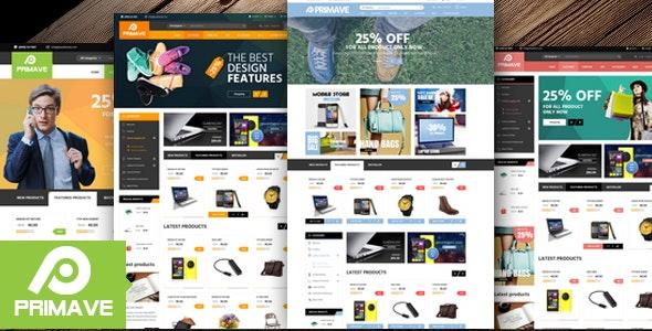 Primave - Electronics Fashion Store HTML Template - Shopping Retail