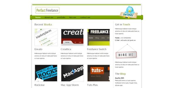 Perfact Freelacer Clean Elegant Html Template - Portfolio Creative