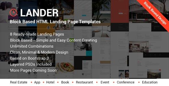Lander - Landing Page HTML Templates