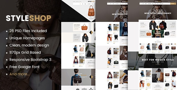 StyleShop - Multipurpose eCommerce PSD Template - Retail Photoshop