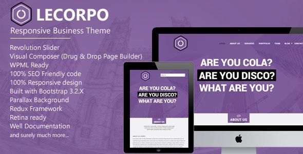 Lecorpo || Business WordPress Theme - Business Corporate