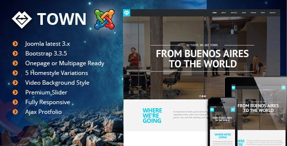 Town - Responsive One Page Joomla Template