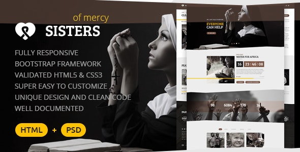 Sisters of Mercy — Nonprofit HTML Template - Churches Nonprofit