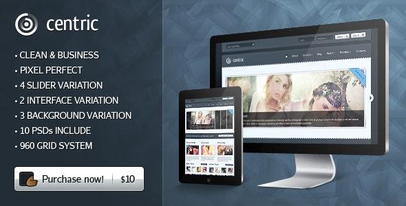 Centric Premium PSD Template - Creative Photoshop