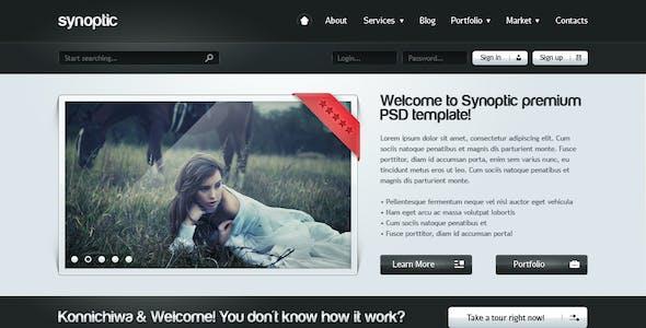 Synoptic premium PSD Template