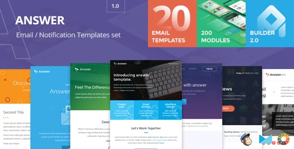 Answer - Email templates set + Builder 2.0 - Email Templates Marketing