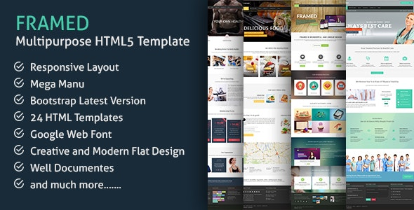 Framed - Responsive Multi-purpose HTML5 Template - Business Corporate