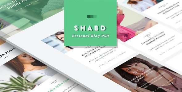 Shabd - Personal Blog PSD Template - Miscellaneous Photoshop