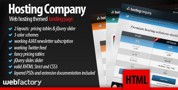 Hosting Company Landing Page - Hosting Technology