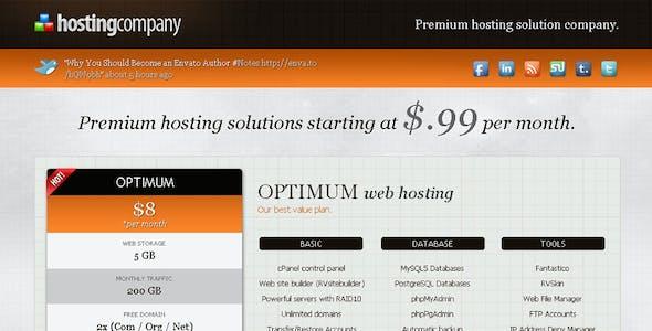Hosting Company Landing Page