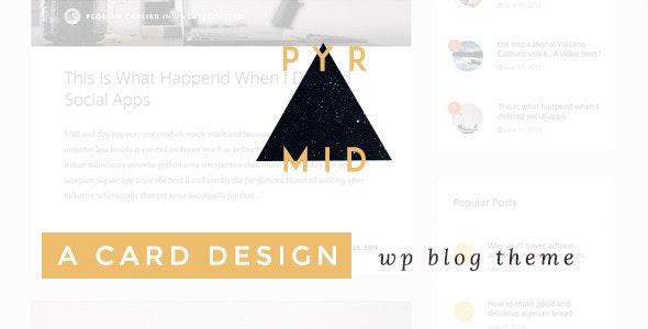 Pyramid - Responsive Blogging WordPress Theme - Blog / Magazine WordPress