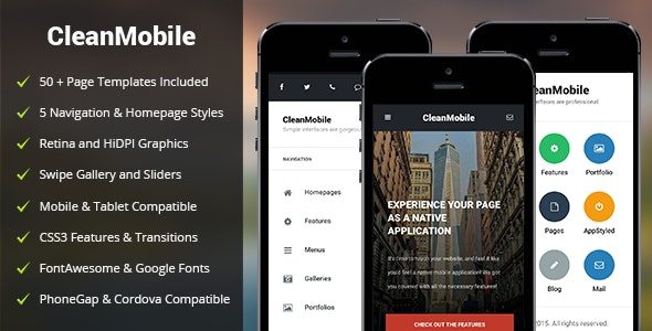 Clean Mobile - Mobile Site Templates