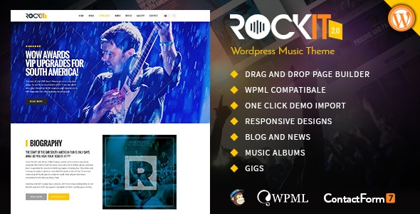 Rockit 2.0 Music Band WordPress Theme - Music and Bands Entertainment