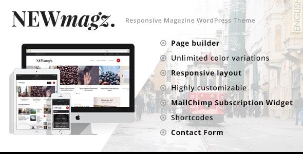 NewMagz - WordPress Magazine Theme - News / Editorial Blog / Magazine