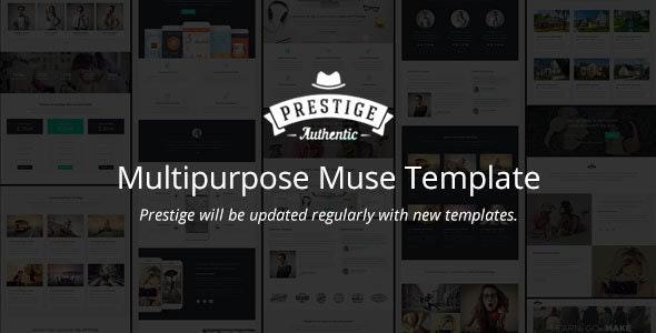 Prestige - Multipurpose Muse Landing Pages - Landing Muse Templates